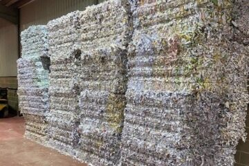 Recycling shredded confidential waste